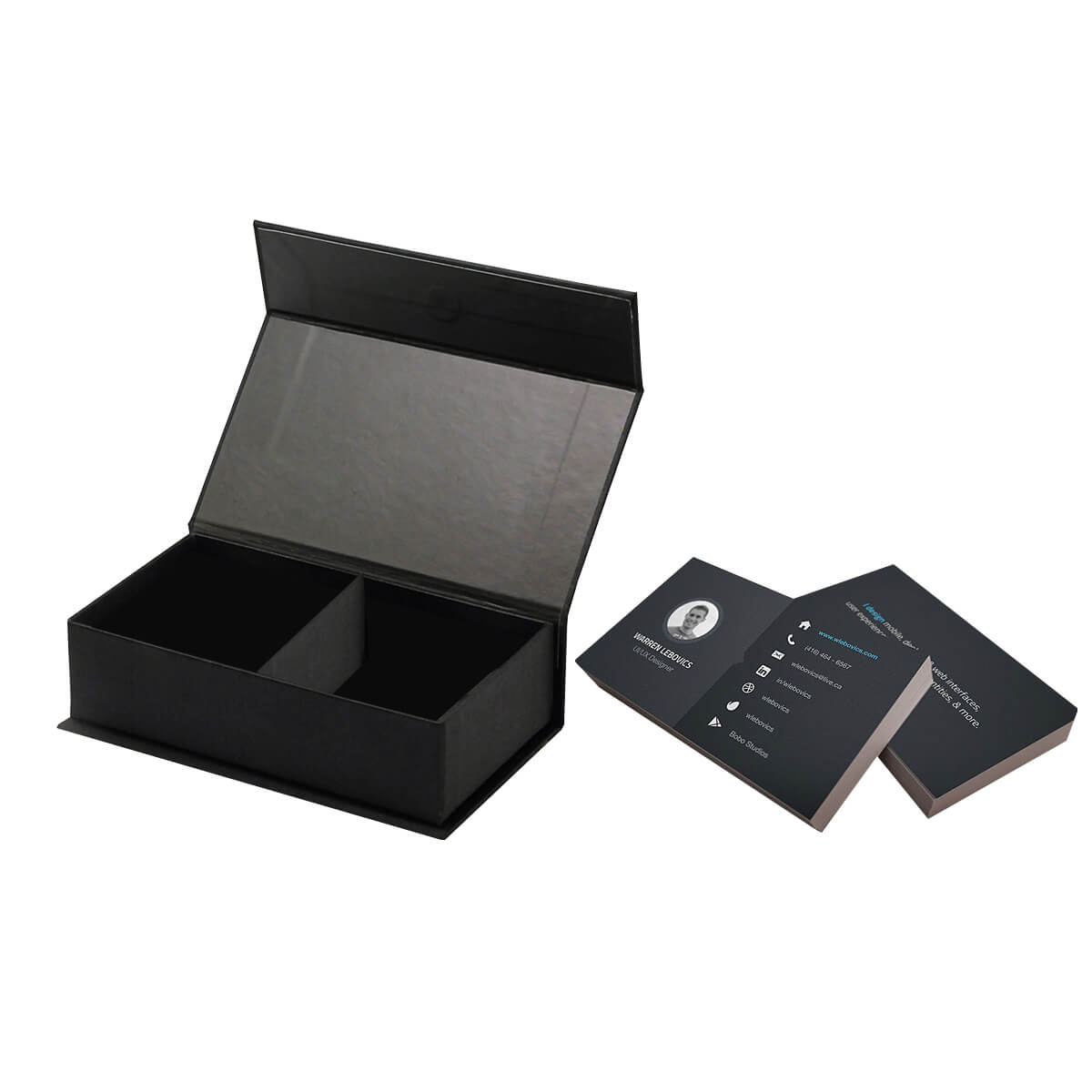 Custom Printed Business Card boxes wholesale | Deluxe Boxes