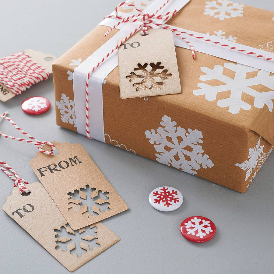 Christmas Label gift packaging idea